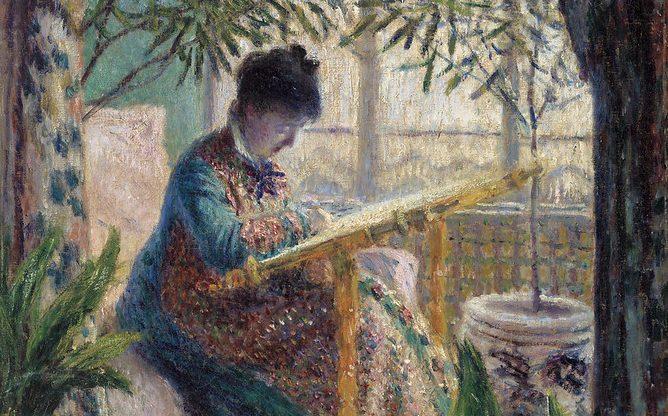 Detail of a portrait by Claude Monet